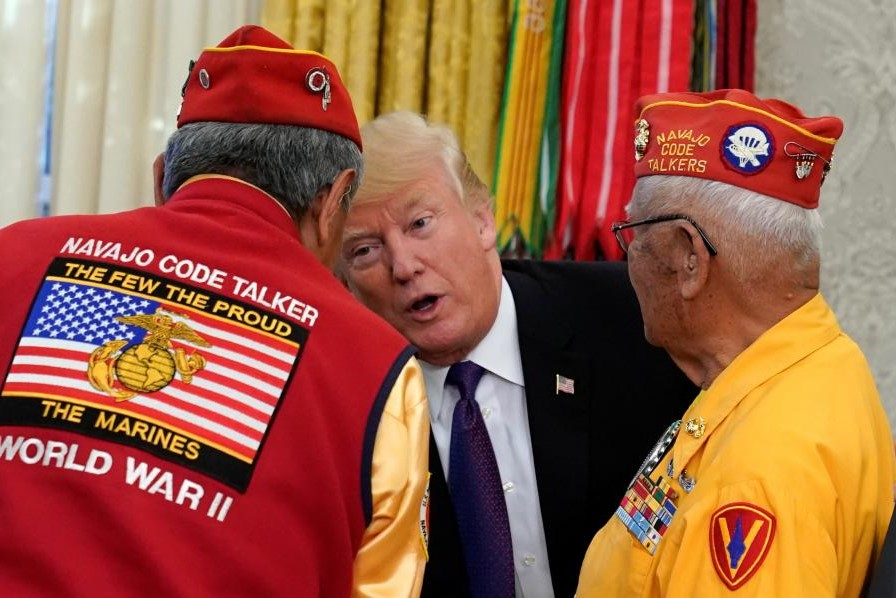 Donad Trump and code talkers