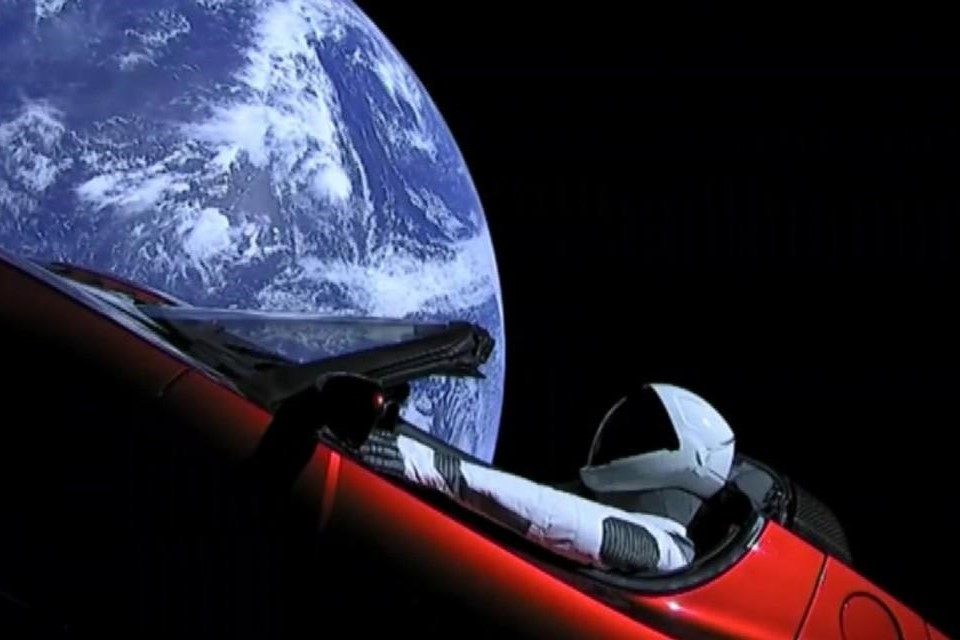 red convertible in space1