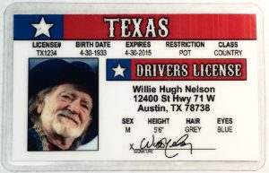 willie nelson driver's licence