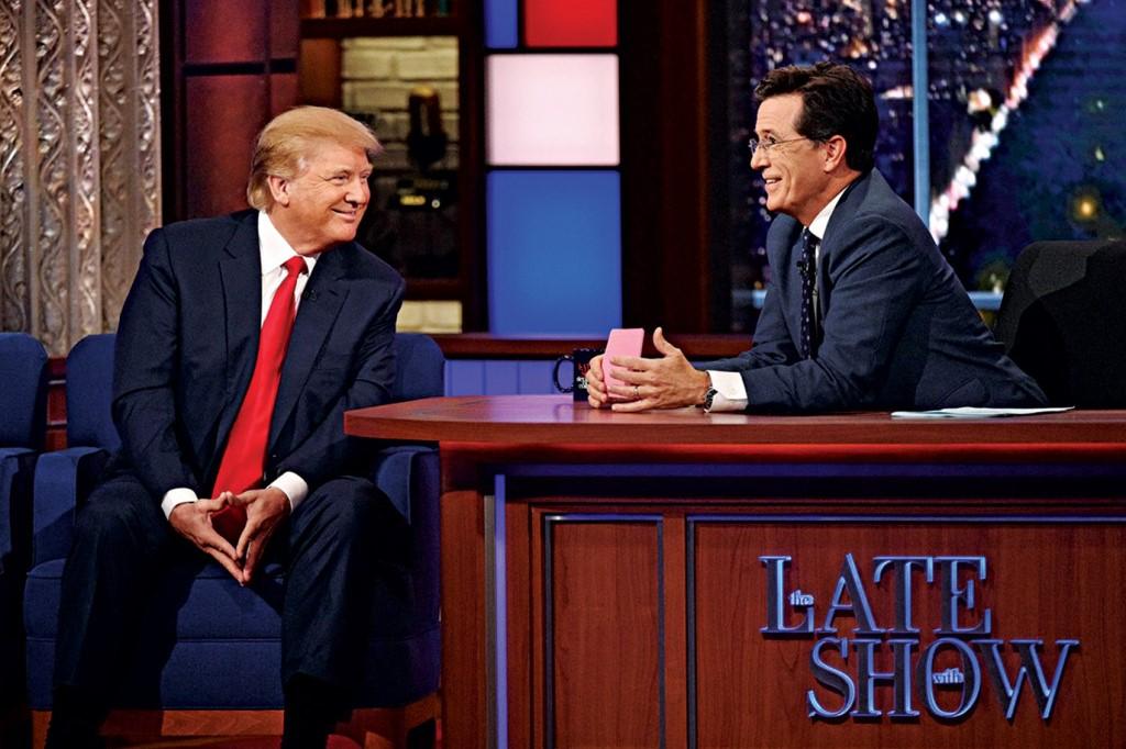 Trump and Colbert